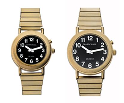 Metall Gold Armbanduhr Damenherrenuhr Edition Black Sprechende tQCdrhs